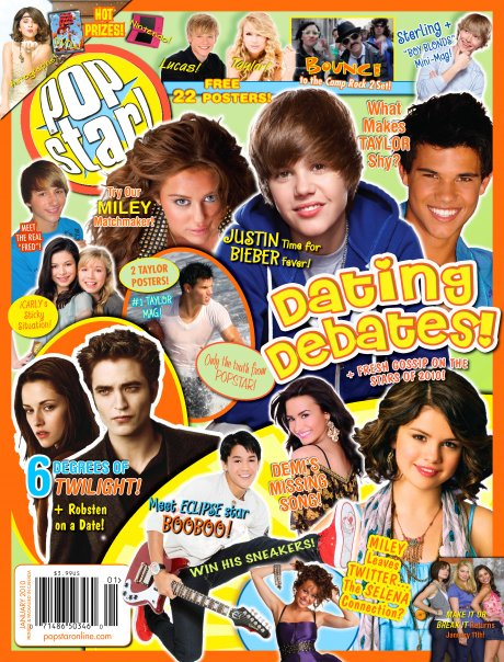 Popstar magazines for tweens